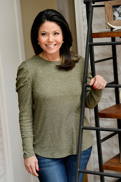 NBC4, The Today Show, and Early Today's Angie Goff at her home in McLean after having her third child.