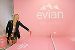 "Maria Sharapova plays table tennis with AJ Calloway from Extra TV during the Evian ""Live Young"" photo shoot event hosted by Maria Sharapova at Openhouse Gallery on August 24, 2010."