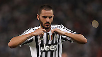 Calcio, Serie A: Roma vs Juventus. Roma, stadio Olimpico, 30 agosto 2015.<br /> Juventus&rsquo; Leonardo Bonucci reacts at the end of the Italian Serie A football match between Roma and Juventus at Rome's Olympic stadium, 30 August 2015. Roma won 2-1.<br /> UPDATE IMAGES PRESS/Isabella Bonotto