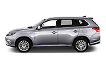 Car Driver side profile view of a 2020 Mitsubishi Outlander-PHEV Intense 5 Door SUV Side View