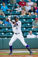 Jose Martinez #8 of the Winston-Salem Dash at bat against the Wilmington Blue Rocks at  BB&T Ballpark August 4, 2010, in Winston-Salem, North Carolina.  Photo by Brian Westerholt / Four Seam Images