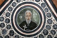 Avramios,cross-vault paintings,crypt,AD 955,Osios Loukas Monastery,Greece