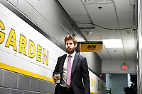 June 6, 2019: Boston Bruins defenseman John Moore (27) makes his way to the locker room before game 5 of the NHL Stanley Cup Finals between the St Louis Blues and the Boston Bruins held at TD Garden, in Boston, Mass. Eric Canha/CSM