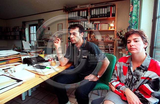 GRACE-HOLLOGNE - BELGIUM - 11 OCTOBER 1996--Gino Russo and Louisa Lejeune  parents of  Julie and Melissa the victims of the Dutroux pedofile-gang. Grace-Hollogne OKT. 19, 1996.--PHOTO: EUP-IMAGES..
