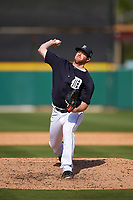 Detroit Tigers pitcher Preston Guilmet (76) delivers a pitch during an exhibition game against the Florida Southern Moccasins on February 29, 2016 at Joker Marchant Stadium in Lakeland, Florida.  Detroit defeated Florida Southern 7-2.  (Mike Janes/Four Seam Images)