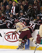 The Boston College Eagles defeated the Northeastern University Huskies 6-3 on Monday, February 11, 2013, at TD Garden in Boston, Massachusetts.