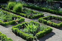 Kräutergarten des Schloss-Hotel Chateau de Schengen, 2 beim Schlass, 5444 Schengen, Luxemburg. Teil des Projektes Gärten ohne Grenzen