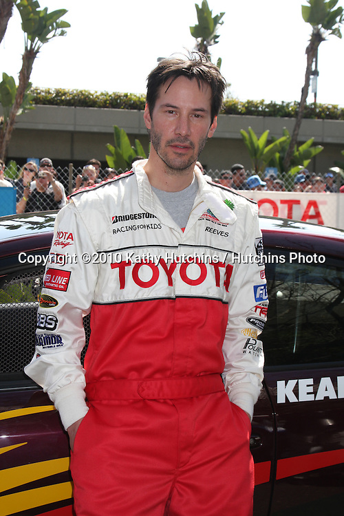 Keanu Reeves.at the Toyota Celeb Race Qualifying 2010.Toyota Celeb Race Qualifying 2010.Long Beach, CA.April 16, 2010.©2010 Kathy Hutchins / Hutchins Photo...