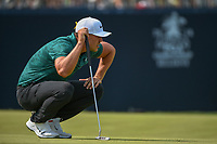 Brooks Koepka (USA) lines up his putt on 9 during 4th round of the 100th PGA Championship at Bellerive Country Club, St. Louis, Missouri. 8/12/2018.<br /> Picture: Golffile | Ken Murray<br /> <br /> All photo usage must carry mandatory copyright credit (&copy; Golffile | Ken Murray)