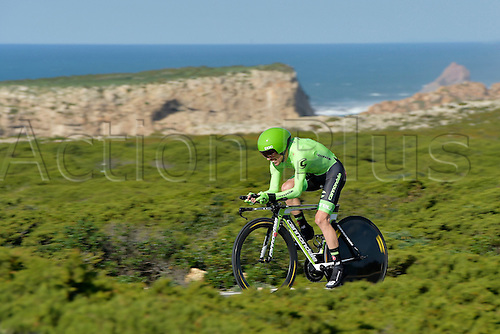 19.02.2016. Sagres, Portual.  CARDOSO Andre Fernando S. Martins (POR) Rider of CANNONDALE PRO CYCLING TEAM in action during stage 3 of the 42nd Tour of Algarve cycling race, an individual time trial of 18km, with start and finish in Sagres on February 19, 2016 in Sagres, Portugal.