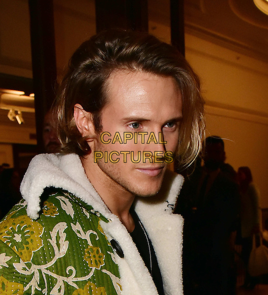 Dougie Poynter arrives for the premiere of the Burberry festive film at Burberry on November 3, 2015 in London, England.<br /> CAP/JOR<br /> &copy;JOR/Capital Pictures