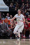 Elisa Penna (41) of the Wake Forest Demon Deacons during first half action against the North Carolina State Wolfpack at the LJVM Coliseum on January 8, 2017 in Winston-Salem, North Carolina.  The Wolfpack defeated the Demon Deacons 65-50.  (Brian Westerholt/Sports On Film)