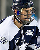 Jeff Silengo (UNH - 18) - The University of Maine Black Bears defeated the University of New Hampshire Wildcats 5-4 in overtime on Saturday, January 7, 2012, at Fenway Park in Boston, Massachusetts.