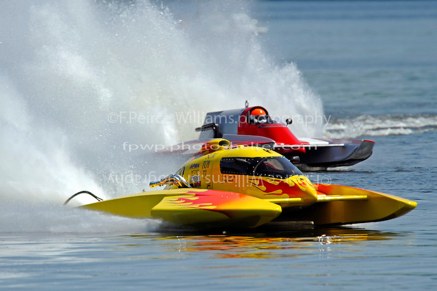"Tom Newman, NM-100 ""Sum Toy III""  and Steve Kuhr, Jr., NM-247 (National Mod hydroplane(s)"