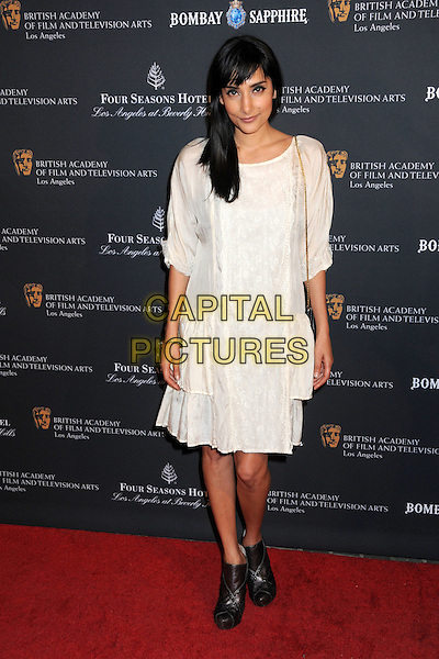 REBECCA HAZELWOOD .17th Annual BAFTA Los Angeles Awards Season Tea Party held at the Four Seasons Hotel, Beverly Hills, California, USA, 15th January 2011..full length white dress cream black ankle boots .CAP/ADM/BP.©Byron Purvis/AdMedia/Capital Pictures.