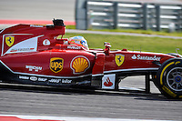 Fernando Alonso of Scuderia Ferrari driving (14) Ferrari F14 T during 2014 Formula 1 United States Grand Prix race, Sunday, November 02, 2014 in Austin, Tex. (Mo Khursheed/TFV Media via AP Images)