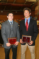 STANFORD, CA - June 12:  David Sender and Tanner Gardner accept the Biff Hoffman Award during the 2008 Athletic Board Award Luncheon at the Ford Center in Stanford, California.