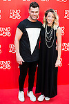 Fonsi Nieto and his girlfriend Marta Castro attend to the 20th anniversary of UNOde50 at Palacio de Saldaña in Madrid. June 09. 2016. (ALTERPHOTOS/Borja B.Hojas)