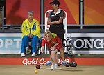 Wales Laura Daniels in action during the Woman's singles Final against Jo Edwards of New Zealand<br /> <br /> *This image must be credited to Ian Cook Sportingwales and can only be used in conjunction with this event only*<br /> <br /> 21st Commonwealth Games - Bowls -  Day 4 - 08\04\2018 - Boardbeach Bowls Club - Gold Coast City - Australia