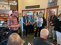 Railway museum in Pioneer Square, Fairbanks; Pacific Horticulture tour of Alaska