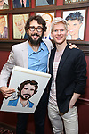 Josh Groban and Lucas Steele during the Josh Groban Sardi's Portrait Unveiling  at Sardi's on June 2, 2017 in New York City.