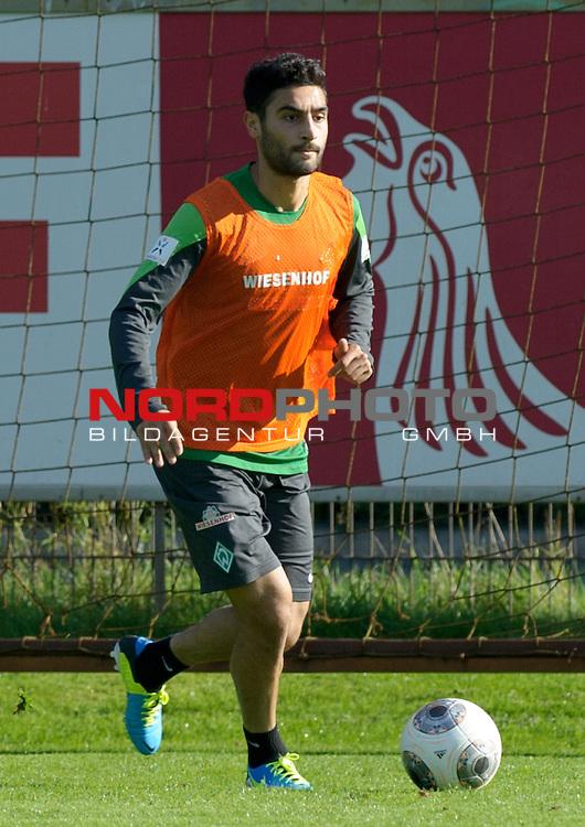 28.09.2013, Trainingsgelaende, Bremen, GER, 1.FBL, Training Werder Bremen, im Bild Mehmet Ekici (Bremen #10)<br /> <br /> Foto &copy; nph / Frisch
