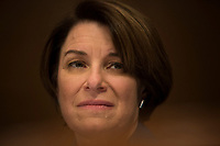 United States Senator Amy Klobuchar (Democrat of Minnesota) listens to testimony during a US Senate Subcommittee on Transportation and Safety hearing on Capitol Hill in Washington, DC on April 10, 2019.<br /> Credit: Stefani Reynolds / CNP/AdMedia