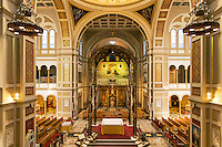 Interior, The Memorial Church of the Holy Sepulchre, Franciscan Monastery of the Holy Land in America, Washington DC, USA
