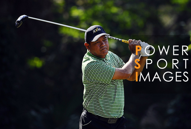 TAIPEI, TAIWAN - NOVEMBER 20:  Boonchu Ruangkit of Thailand tees off on the 5th hole during day three of the Fubon Senior Open at Miramar Golf & Country Club on November 20, 2011 in Taipei, Taiwan. Photo by Victor Fraile / The Power of Sport Images