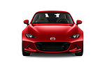 Car photography straight front view of a 2019 Mazda MX-5 Skycruise 2 Door Targa Front View