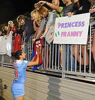 Boyds, MD - Saturday August 26, 2017: Christen Press, fans during a regular season National Women's Soccer League (NWSL) match between the Washington Spirit and the Chicago Red Stars at Maureen Hendricks Field, Maryland SoccerPlex.