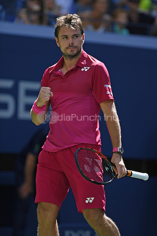 FLUSHING NY- AUGUST 29: Stan Wawrinka Vs Fernando Verdasco on Arthur Ashe Stadium at the USTA Billie Jean King National Tennis Center on August 30, 2016 in Flushing Queens. Credit: mpi04/MediaPunch