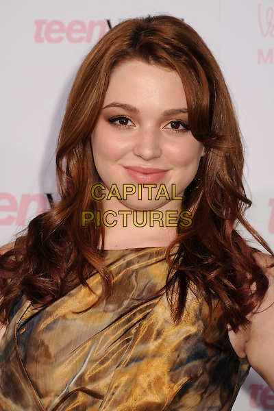 JENNIFER STONE .The 8th Annual Teen Vogue Young Hollywood Party held at Paramount Studios,  Los Angeles, California, USA, 1st October 2010..portrait headshot gold yellow grey gray print .CAP/ADM/BP.©Byron Purvis/AdMedia/Capital Pictures.