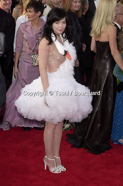 Bjork arrives for the 73rd Annual Academy Awards at the Shrine Auditorium in Los Angeles, Sun. March 25, 2001. 102_Bjork110.JPG
