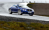 The Bentley Sports Coupe at Knockhill, where the corner photographed is to be re-named in memory of David Leslie - picture by Donald MacLeod 24.04.08