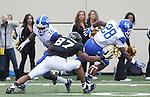 Vanderbilt wide receiver Jordan Matthews drops a pass during the second half of the University of Kentucky vs. Vanderbilt University football game at Vanderbilt Stadium in Nashville, Tenn., on Saturday, November 16, 2013. Vanderbilt won 22-6. Photo by Tessa Lighty | Staff