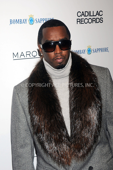 WWW.ACEPIXS.COM . . . . . ....December 1 2008, New York City....Rapper Sean Combs arriving at the premiere of 'Cadillac Records' at the AMC Loews 19th Street theatre on December 1, 2008 in New York City.....Please byline: KRISTIN CALLAHAN - ACEPIXS.COM.. . . . . . ..Ace Pictures, Inc:  ..(646) 769 0430..e-mail: info@acepixs.com..web: http://www.acepixs.com