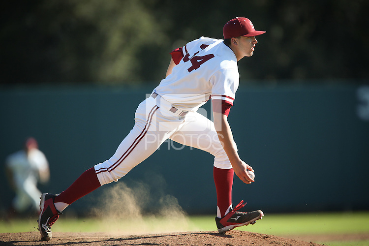 STANFORD, CA - FEBRUARY 16, 2015 - Stanford falls to visiting California at Klein Field at Sunken Diamond Stadium.