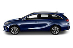 Car Driver side profile view of a 2019 KIA Ceed-SW More 5 Door Wagon Side View