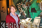 Helen O'Carroll with the Sword and hat which belonged to Sir Roger Casement wich is now on display in Kerry county Museum.