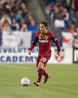 Real Salt Lake midfielder Ned Grabavoy (20). Real Salt Lake defeated the New England Revolution, 2-1, at Gillette Stadium on October 2, 2010.