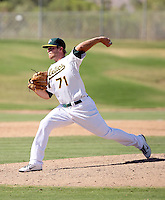 Jacob Brown - Oakland Athletics - 2010 Instructional League.Photo by:  Bill Mitchell/Four Seam Images..