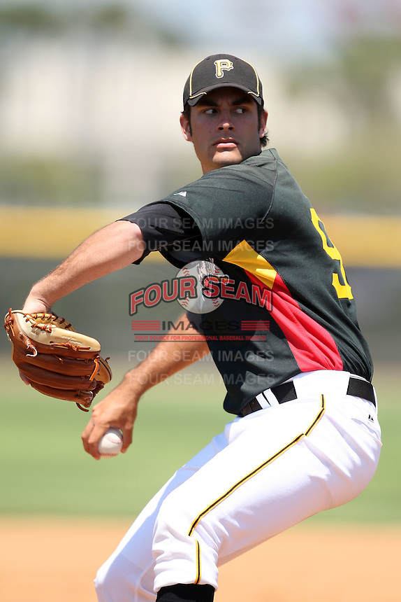 March 31, 2010:  Pitcher Quinton Miller of the Pittsburgh Pirates organization during Spring Training at the Yankees Training Complex in Tampa, FL.  Photo By Mike Janes/Four Seam Images