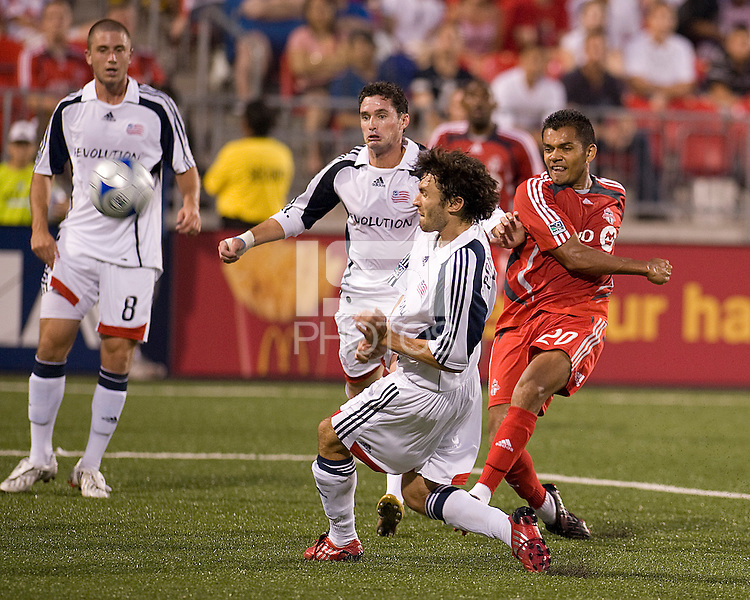Amado Guevara(20) returned to action at BMO Field against the New England Revolution. .The game ended in a 1-1 draw.