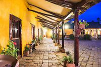 Courtyard at the Inca Hacienda San Agustin de Callo, luxury boutique hotel near Cotopaxi National Park, Ecuador, South America