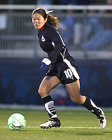 Homare Sawa (10) of the Washington Freedom moves into the attack during a WPS match against the Chicago Red Stars at Maryland Soccerplex on April 11 2009, in Boyd's, Maryland.  The game ended in a 1-1 tie.