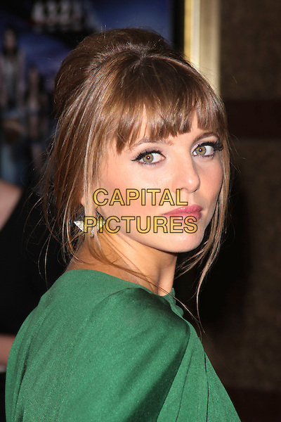 OPHELIA LOVIBOND .World Film Premiere of '4,3,2,1' at the Empire, Leicester Square, London, England, UK, May 25th 2010 .4321 4-3-2-1 arrivals portrait headshot earrings fringe  green side .CAP/AH.©Adam Houghton/Capital Pictures.