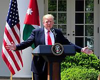 APR 05 Trump Meets King Abdallah II of Jordan