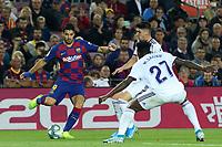 29th October 2019; Camp Nou, Barcelona, Catalonia, Spain; La Liga Football, Barcelona versus Real Valladolid; picture show Luis Suarez as he runs at Salisu of Valladolid