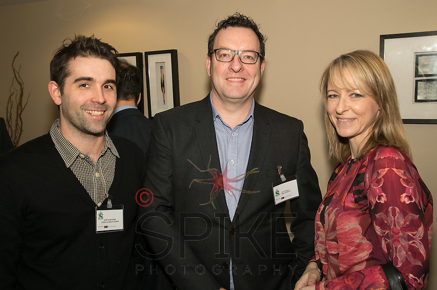 hree from CPMG - from left are David Shaw, Mark Gregory and Sara Harraway